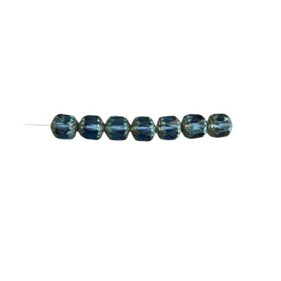 Cristallo repubblica blu anticato argento 14 x 10 mm