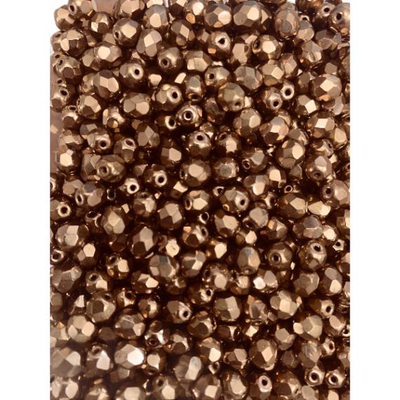 Cristallo repubblica ceca 6 mm  bronzo (confezione 50 pz)