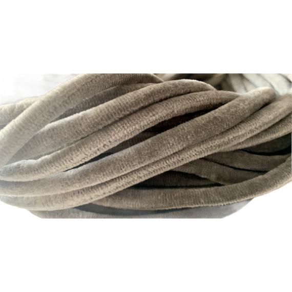 Tubolare velluto grigio 10 mm